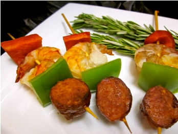 Andouille Sausage and Shrimp Kabobs