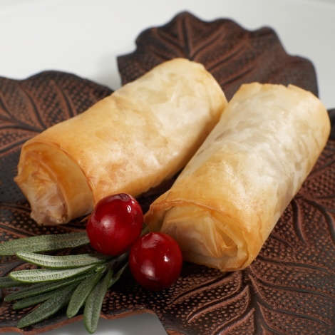 Cranberry & Brie in Phyllo Log
